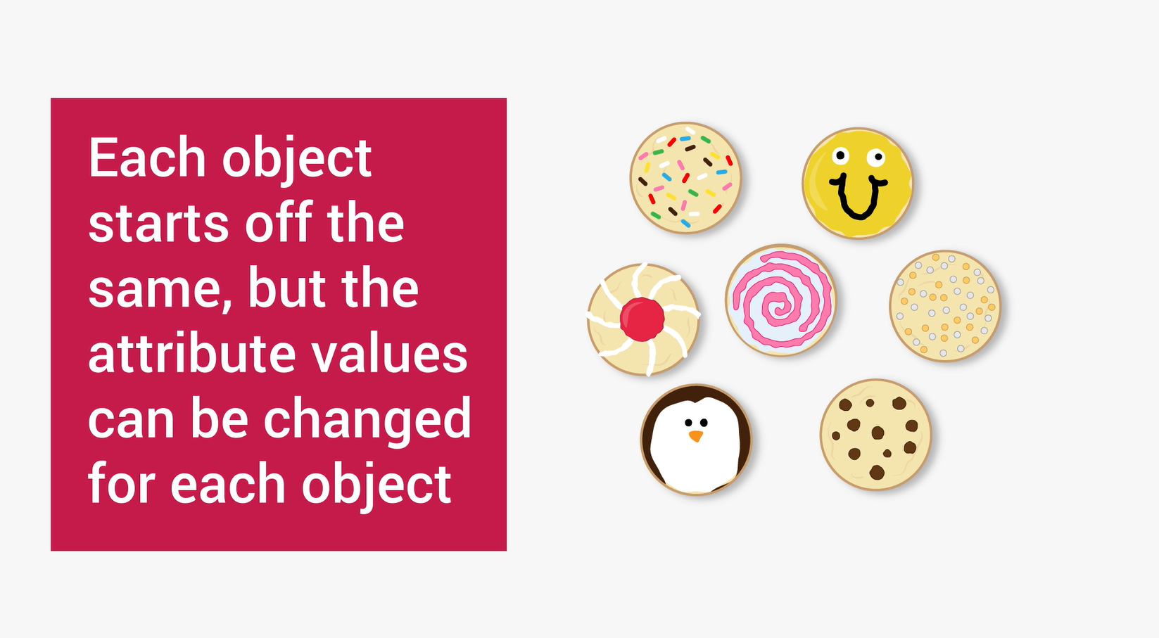 an illustration of cookies all with different designs